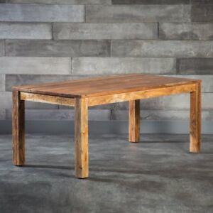Details Zu Esstisch Kuchentisch 120x90cm Modern Massiv Holz Tisch Akazie 26mm Loft Retro