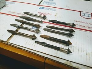 Vintage-Lot-Of-10-Countersink-Brace-Bits-1-4-034-3-4-034-Various-Makers