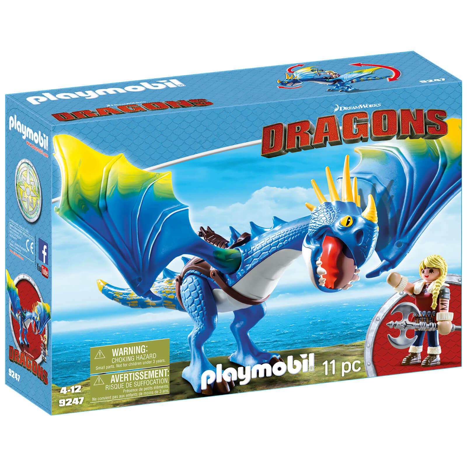 Playmobil cómo entrenar a tu dragón Astrid con Torméntula  (9247) los niños juguetes