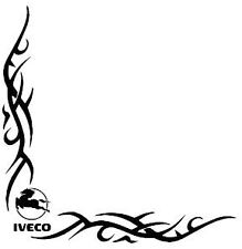 IVECO TRIBAL Side Window Decals Stickers x 2