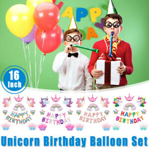 Unicorn-Star-Balloons-Set-Happy-Birthday-Party-Dec-Princess-Girl-Foil-Kids-19Pcs
