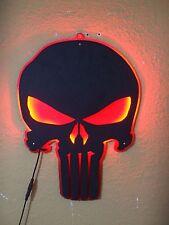 PUNISHER SKULL METAL LED BAR SIGN MAN CAVE GARAGE