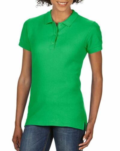 Gildan Femme Premium Coton Sport cadat Col Polo Shirts T-shirt Top