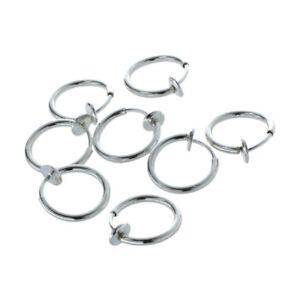 8-Clip-On-Falso-Naso-Piercing-Orecchini-A-Cerchio-Labbro-Anelli-N5G7