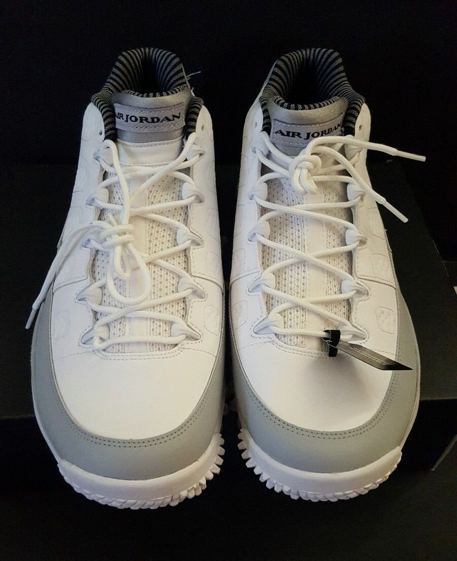 nike air jordanie 9 ix les chaussures chaussures chaussures de golf 833798 103 8 barons gris blanc 846a0d