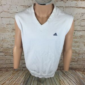 a1eed64c8dd00 Image is loading Vintage-90-s-Adidas-Tennis-Sleeveless-Jumper-Sweater-