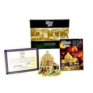 Lilliput-Lane-Pepper-Mill-Cottage-1999-Vintage-Ornament-Boxed-Deeds-Brand-New