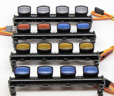 505Y YELLOW RC Car LED LED Light Bar Aluminum 5 Modes 1/10 1/8 Tamiya 4WD