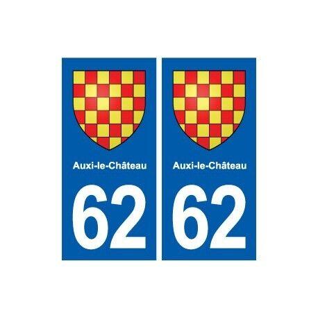 62 Auxi-le-Château blason autocollant plaque stickers ville droits