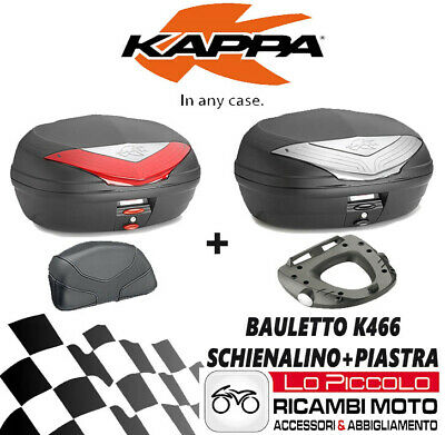 Honda Hornet 600 2009 2010 Kappa Bauletto K466 + Kz263 + Km5m + Schienale Numerosi In Varietà