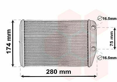 Innenraumheizung 17006410 für CITROËN FIAT VAN WEZEL Wärmetauscher