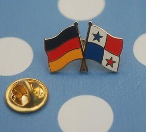 Freundschaftspin-Deutschland-Panama-Pin-Button-Badge-Anstecker-Sticker-Laenderpin