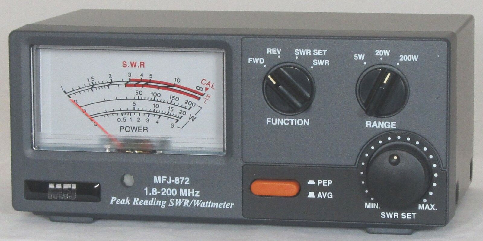 MFJ-872 SWR meter, 1.8-200Mhz, 5/20/200W. Available Now for 104.95