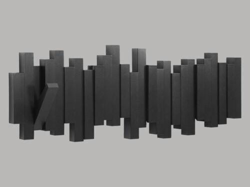 sticks multi hook kleiderhaken garderobe black 5 haken by umbra 318211-040