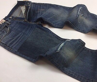 Levi's Levis Men 511 Distressed Ripped Repaired Patchwork Slim Jeans Pants | eBay