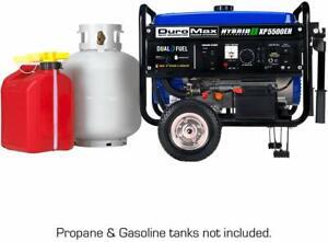 Electric Start Dual Fuel Portable Generator DuroMax XP5500EH 5,500 Watt 7.5 HP