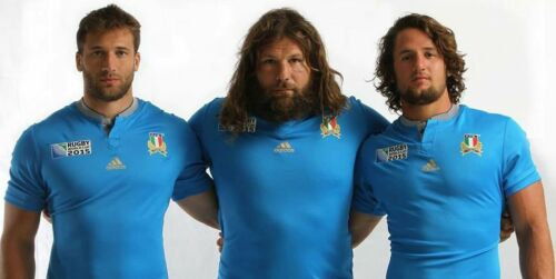 Italy World Cup Rugby Shirt Top Boys Children/'s Official Replica BNWT