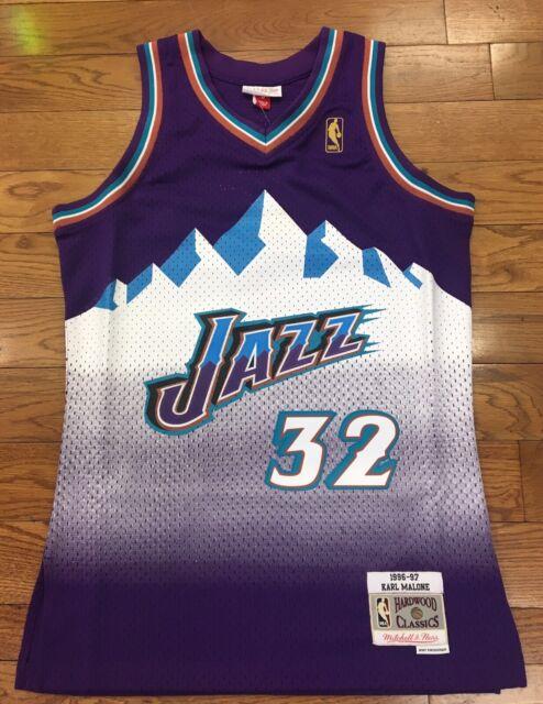 Karl Malone Jersey NBA Utah Jazz 32 Purple Swingman Authentic Edition