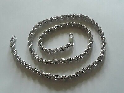 BN 1.7mm* wide 28 inch* Rope Chain Necklace Made Italy - Sterling Silver