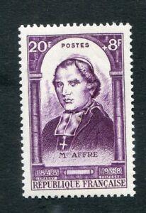 Timbre-FRANCE-neuf-TB-YT-n-802-Mgr-AFFRE-Celebrites-1948