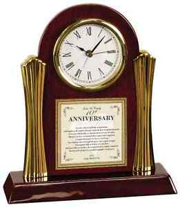 Parents Wedding Anniversary Clock Personalized Mother