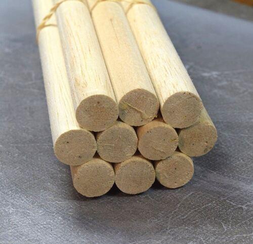 WWS Balsa Wood Dowel 19mm (3/4) Diameter 305mm (12) Long - 9 Pack – Model
