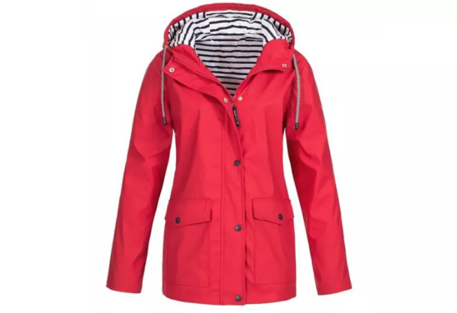 Womens Rain Jacket in Red Colour Size 3XL Brand new condition