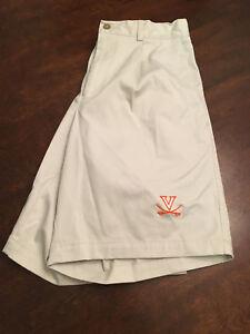 NWT Virginia UVA Cavaliers Football Team Issued Nike Stone Khaki Shorts Size 30