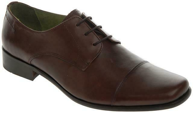 Walktall Lisbon Derby Lace Up Formal shoes Brown Big Mens UK Sizes Available