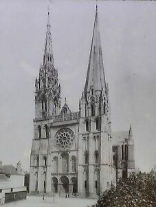 Details about Chartres Cathedral, France, Magic Lantern Glass Slide (Gothic  Architecture)
