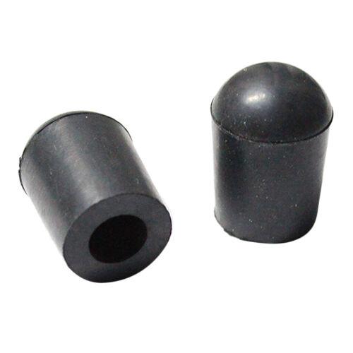 4 Stück schwarz aufrecht Kontrabass Endpin Rubber Tip Musikinstrument