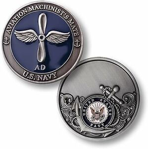 US Navy Aviation Machinist's Mate Challenge Coin AD Rating ...