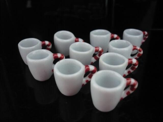 6 Mix Colorful Ceramic Mugs Coffee Dollhouse Miniatures Supply Deco Kitchenware