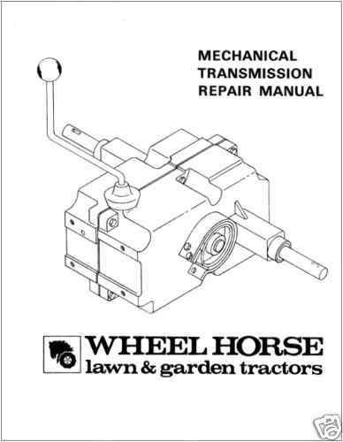 WHEEL HORSE 6 /& 8-SPEED TRANSMISSION REPAIR MANUAL