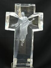 "MODERNIST LUCITE JESUS SCULPTURE CRUCIFIX BY C.A. PARDELL 23/950 THE ASCEND ~17"""