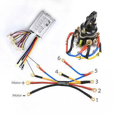 24v 500w Brushed Speed Controller Reverse Switch Throttle Grips ATV Scooter Bike