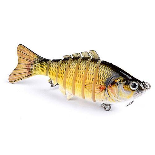 7 Segment Swimbait Lures Fishing Bait Fish Lure Crankbait Hooks 10cm