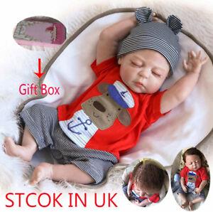Lifelike Full Body vinyl Silicone Reborn Doll Baby Boy For Sleepping Toys