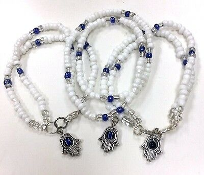 Blue Sodalite  Bracelet Cross Charm 6 inch Design by Susie
