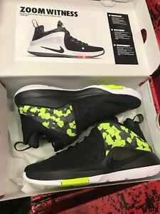 da66784af50 Image is loading Mens-Nike-Zoom-Witness-Lebron-Sneakers-New-Black-