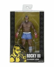"Rocky 40th Anniversary 7"" Scale Figure Series 1 Clubber Lang Blue Trunks - NECA"