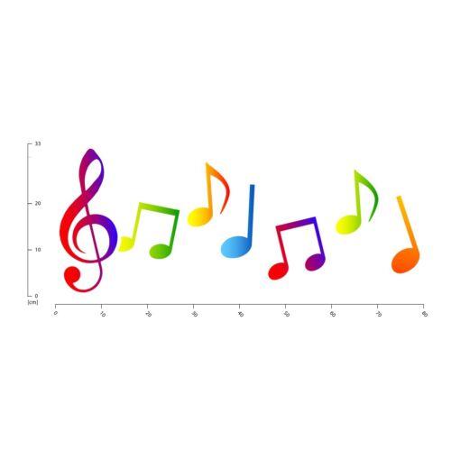 Rainbow Music Notes Wall Sticker WS-50616