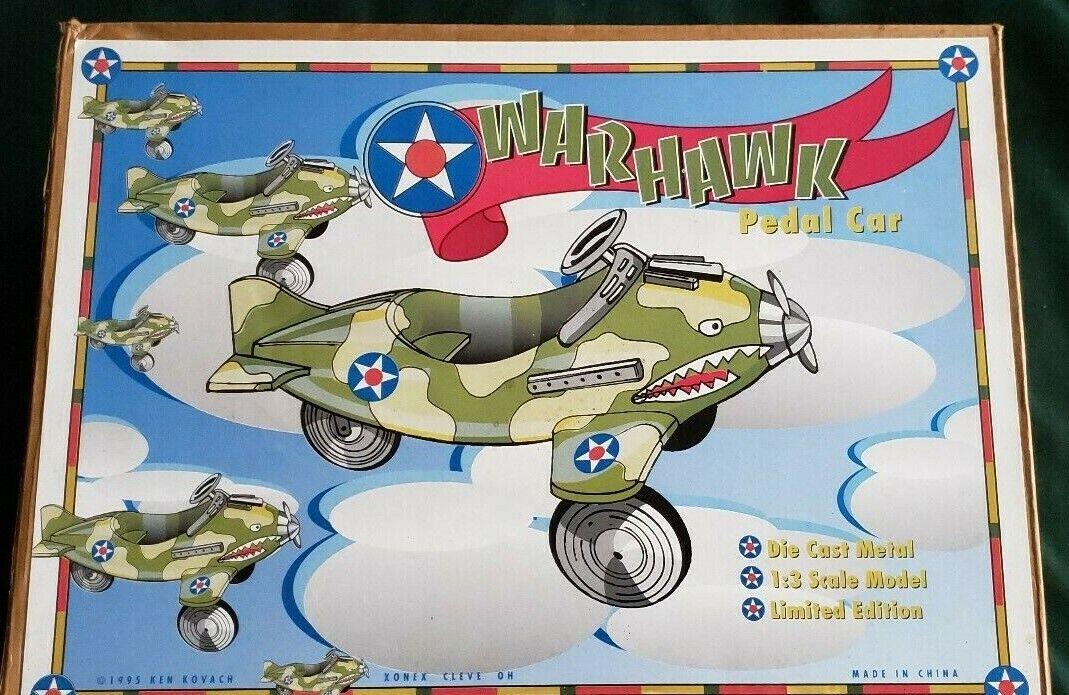 Xonex WARHAWK Pedal Car 1 3 Scale, Die Cast Metal Limited Edition, Ken Kovach