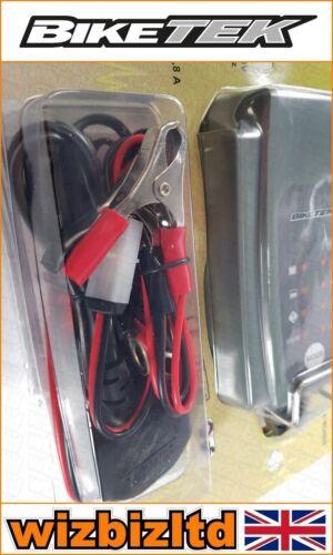 Biketek Motorcycle Motorbike BATTERY Trickle charger 6v 12V 0.8A UK plug BCH016