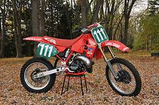 Jean Michel Bayle's 1989 RC250 World Championship Honda  CD vintage motocross