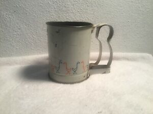 VINTAGE-KITCHEN-1950-60S-ANDROCK-MADE-IN-U-S-A-DUCK-FLOUR-SIFTER