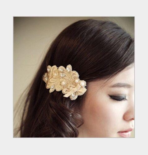 New Fashion Women Rhinestone Pearl Bowknot Barrettes Hair Clip Clamp Hairpin