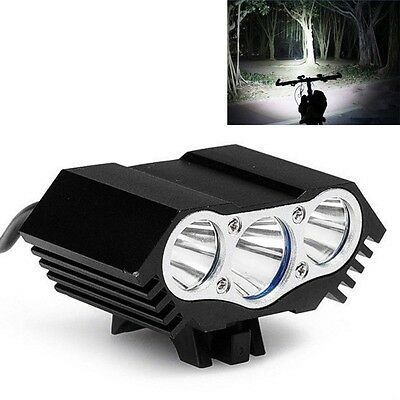 10000Lm 3 x CREE T6 LED Bicycle Lamp Light Headlight Cycling Torch Rechargeable