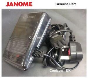 GENUINE-JANOME-amp-ELNA-SEWING-MACHINE-FOOT-CONTROL-PEDAL-LEAD-NEW-E-TYPE
