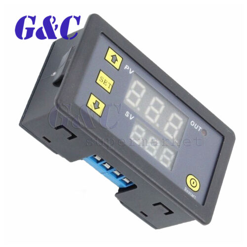DC 12V Timing Switch Delay Relay Module Dual LED Multi-function Timer
